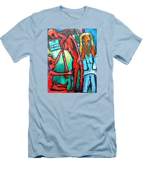 And Remember To Be Kind Men's T-Shirt (Slim Fit) by Kenneth Agnello