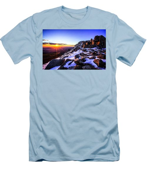 Men's T-Shirt (Slim Fit) featuring the photograph And Then There Was Light by Kristal Kraft
