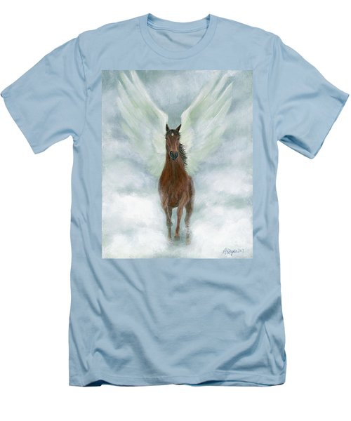 Angel Horse Running Free Across The Heavens Men's T-Shirt (Athletic Fit)