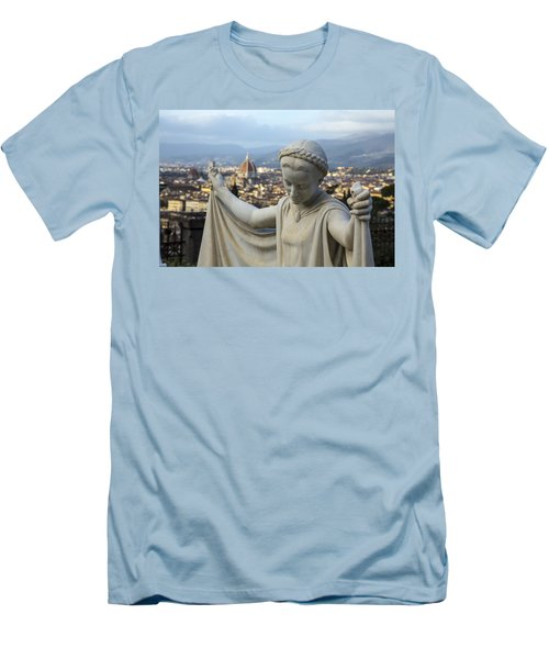 Men's T-Shirt (Slim Fit) featuring the photograph Angel Of Firenze by Sonny Marcyan