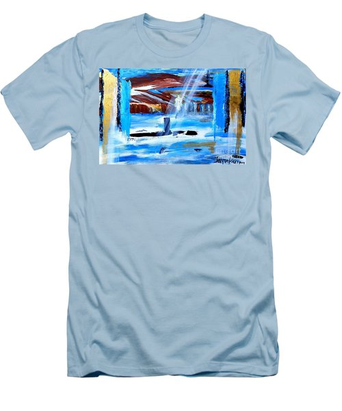 Angel Over Water Men's T-Shirt (Athletic Fit)