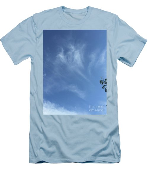 Angels Appear Over The Old Farm Men's T-Shirt (Athletic Fit)
