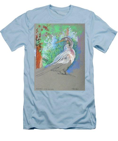 Anhinga Sarasota Plein Air Men's T-Shirt (Athletic Fit)