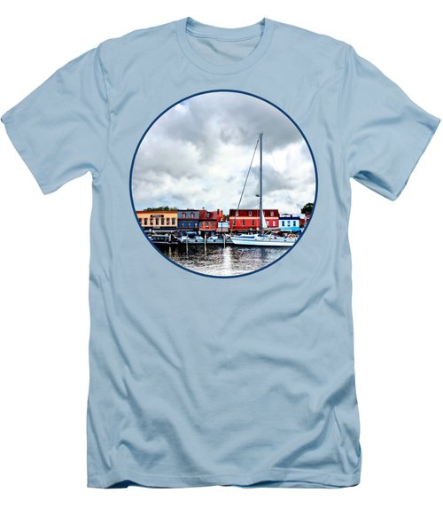 Annapolis Md - City Dock Men's T-Shirt (Athletic Fit)