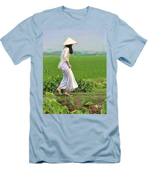 Ao Dai II Men's T-Shirt (Slim Fit) by Chuck Kuhn