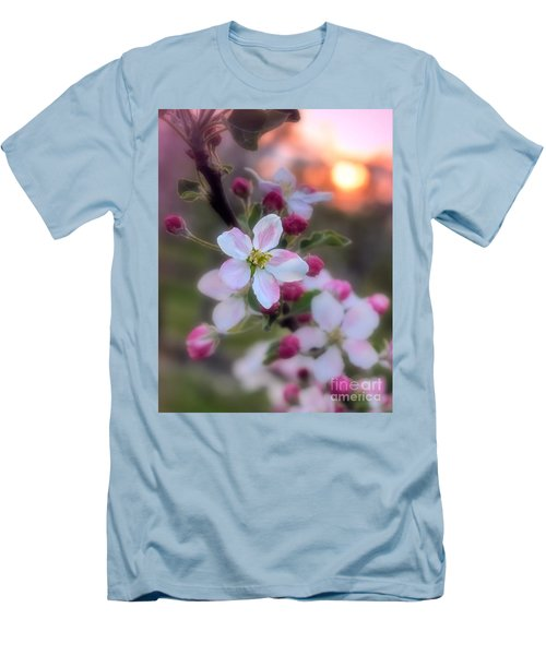 Apple Blossom Sunrise Men's T-Shirt (Slim Fit) by Henry Kowalski
