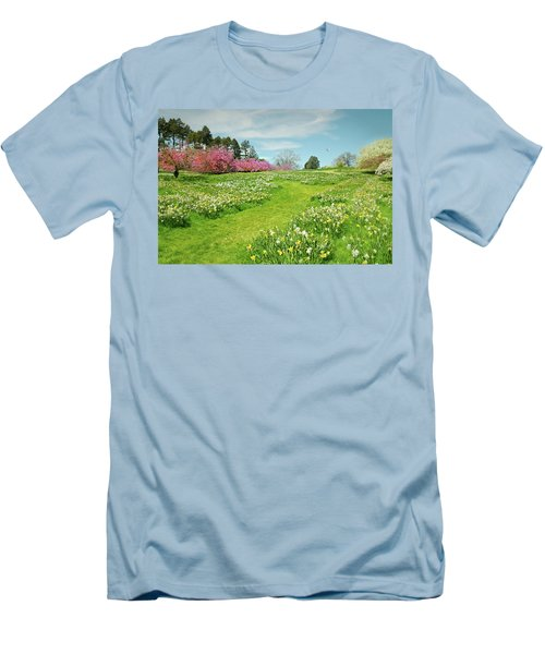 Men's T-Shirt (Slim Fit) featuring the photograph April Days by Diana Angstadt