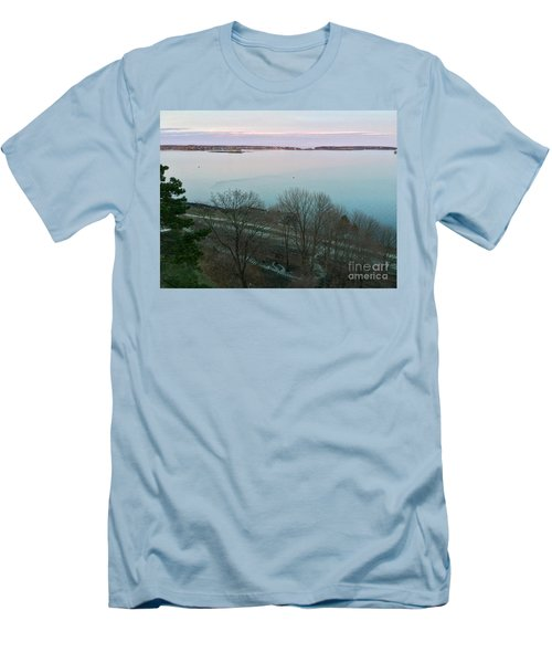 April Twilight On Casco Bay Men's T-Shirt (Athletic Fit)
