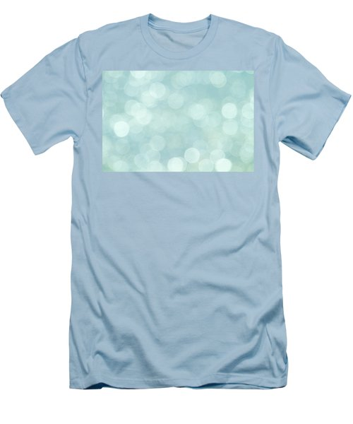 Men's T-Shirt (Slim Fit) featuring the photograph Aqua Abstract by Peggy Collins