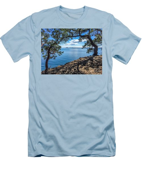 Men's T-Shirt (Slim Fit) featuring the photograph Arch Of Trees by William Wyckoff