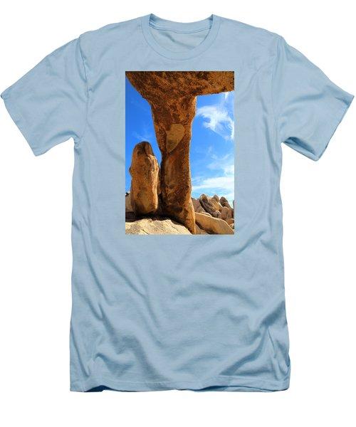 Arch Rok Looking Inside Sideway Men's T-Shirt (Slim Fit) by Viktor Savchenko