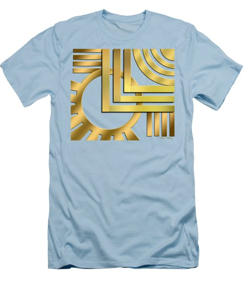 Men's T-Shirt (Slim Fit) featuring the digital art Art Deco 19 Transparent by Chuck Staley