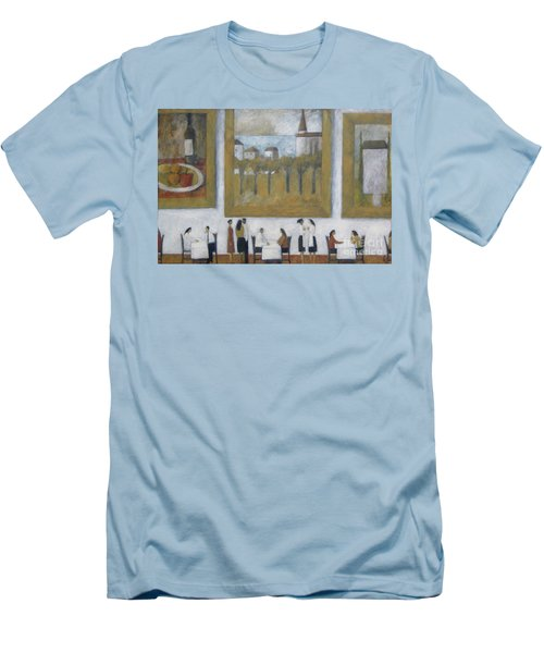 Men's T-Shirt (Slim Fit) featuring the painting Art Is Long, Life Is Short by Glenn Quist