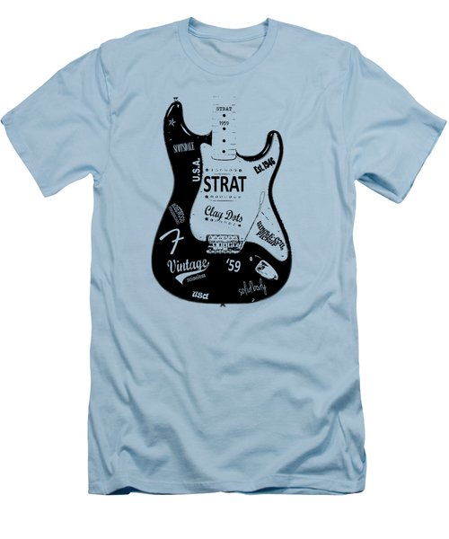 Fender Stratocaster 59 Men's T-Shirt (Slim Fit) by Mark Rogan