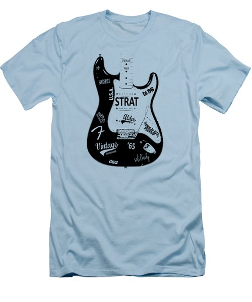 Fender Stratocaster 65 Men's T-Shirt (Slim Fit) by Mark Rogan