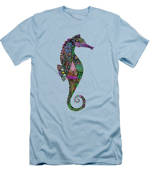 Electric Lady Seahorse  Men's T-Shirt (Athletic Fit)