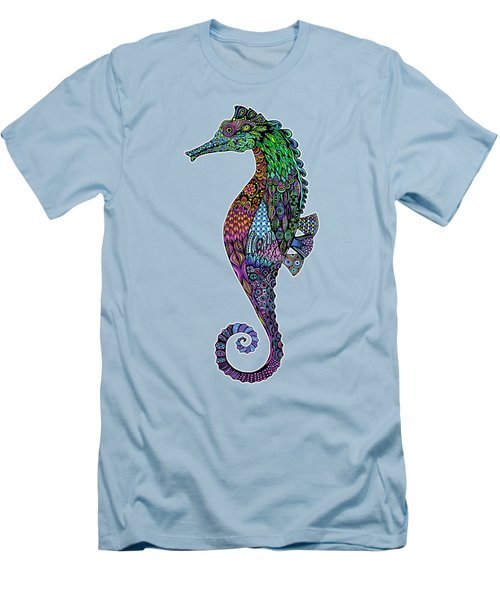Electric Gentleman Seahorse Men's T-Shirt (Athletic Fit)