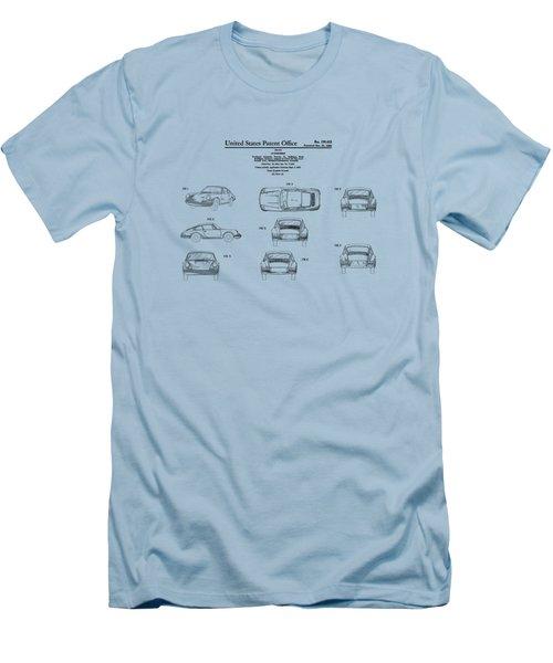Porsche 911 Patent Men's T-Shirt (Slim Fit) by Mark Rogan