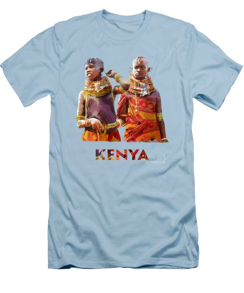 Young Turkana Girls Men's T-Shirt (Athletic Fit)