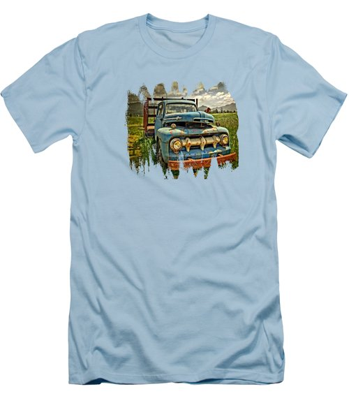 The Blue Classic 48 To 52 Ford Truck Men's T-Shirt (Slim Fit) by Thom Zehrfeld
