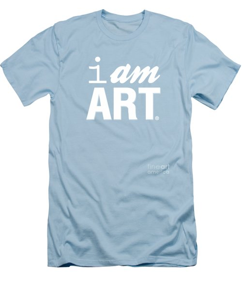 Men's T-Shirt (Slim Fit) featuring the digital art I Am Art- Shirt by Linda Woods
