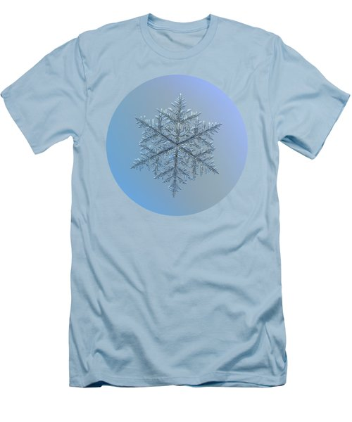 Men's T-Shirt (Athletic Fit) featuring the photograph Snowflake Photo - Majestic Crystal by Alexey Kljatov