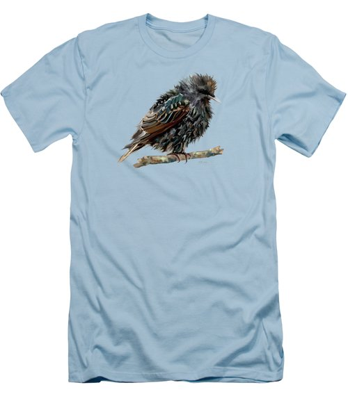 Wet Starling Men's T-Shirt (Slim Fit) by Bamalam Photography