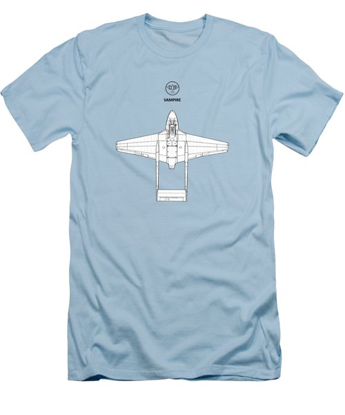 The De Havilland Vampire Men's T-Shirt (Slim Fit) by Mark Rogan