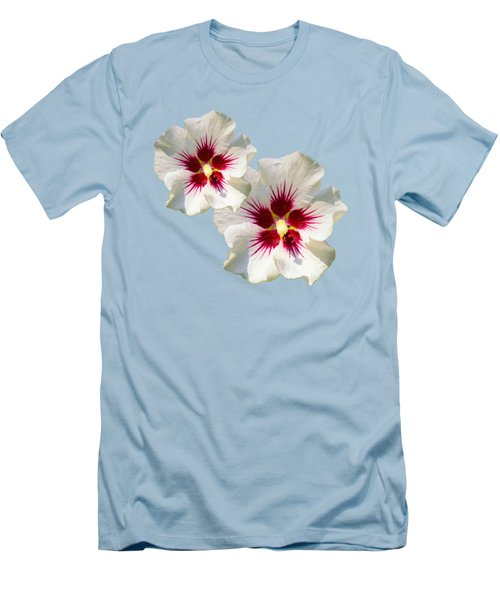Men's T-Shirt (Slim Fit) featuring the mixed media Hibiscus Flower Pattern by Christina Rollo