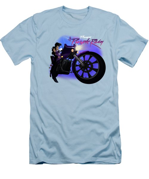 I Grew Up With Purplerain 2 Men's T-Shirt (Slim Fit) by Nelson dedos Garcia