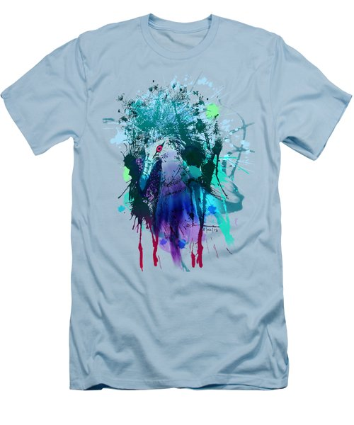 Victoria Crowned Pigeon Men's T-Shirt (Slim Fit) by Clinton Caleb