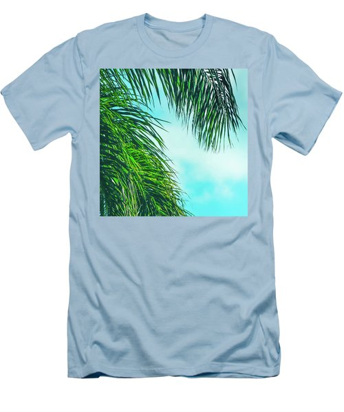 Tropical Palms Maui Hawaii Men's T-Shirt (Slim Fit) by Sharon Mau