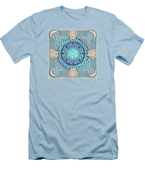 Men's T-Shirt (Slim Fit) featuring the mixed media Celtic Eye Of The World by Kristen Fox