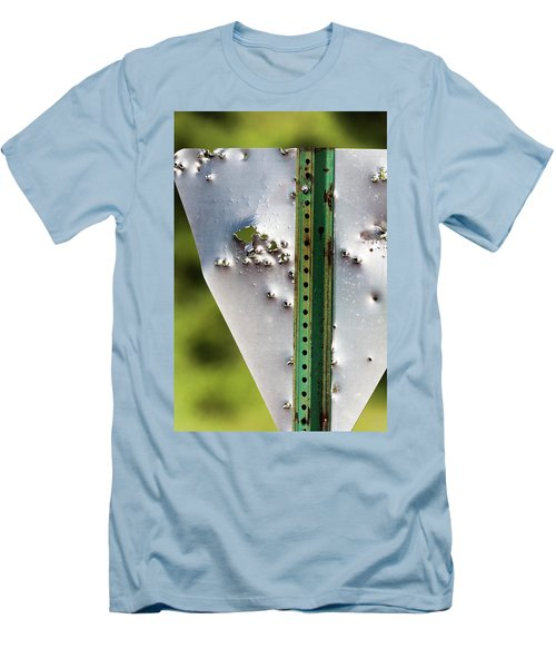 Bullet Hole Yield Men's T-Shirt (Athletic Fit)