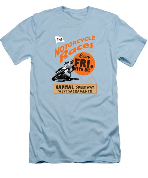 Motorcycle Speedway Races Men's T-Shirt (Athletic Fit)