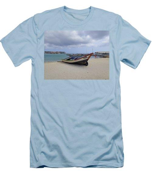 Men's T-Shirt (Slim Fit) featuring the photograph Aruba Beach by Lois Lepisto