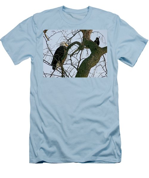 As The Eagle Looks On Men's T-Shirt (Slim Fit) by Sue Stefanowicz