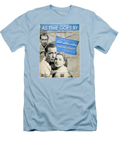 As Time Goes By Sheet Music Men's T-Shirt (Athletic Fit)