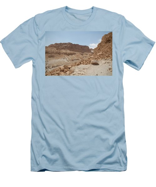 Ascension To Masada - Judean Desert, Israel Men's T-Shirt (Slim Fit) by Yoel Koskas