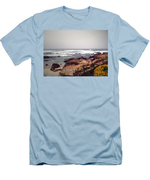Asilomar Beach Pacific Grove Ca Usa Men's T-Shirt (Slim Fit) by Joyce Dickens