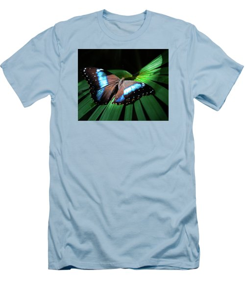 Men's T-Shirt (Slim Fit) featuring the photograph Asleep Beneath The Moon by Karen Wiles