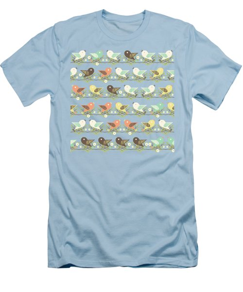 Assorted Birds Pattern Men's T-Shirt (Athletic Fit)