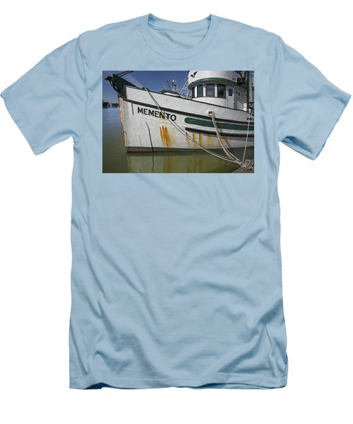 Men's T-Shirt (Slim Fit) featuring the photograph At The Dock by Elvira Butler