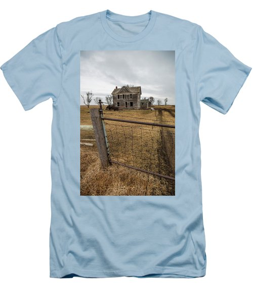 Men's T-Shirt (Slim Fit) featuring the photograph At The Gate  by Aaron J Groen