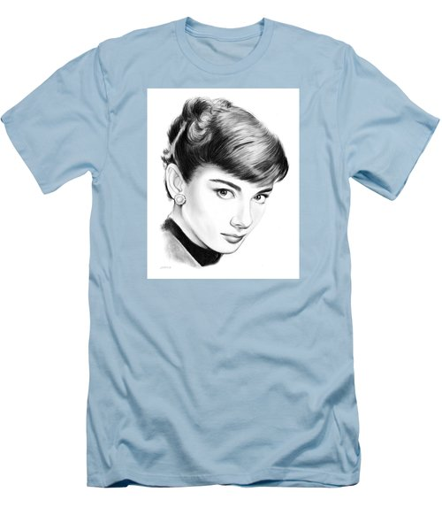 Audrey Hepburn Men's T-Shirt (Slim Fit) by Greg Joens