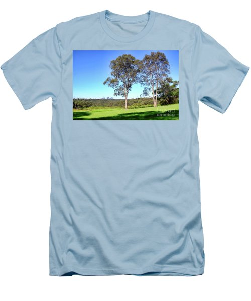 Men's T-Shirt (Slim Fit) featuring the photograph Aussie Gum Tree Landscape By Kaye Menner by Kaye Menner
