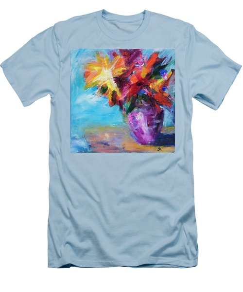 Colorful Flowers  Men's T-Shirt (Athletic Fit)