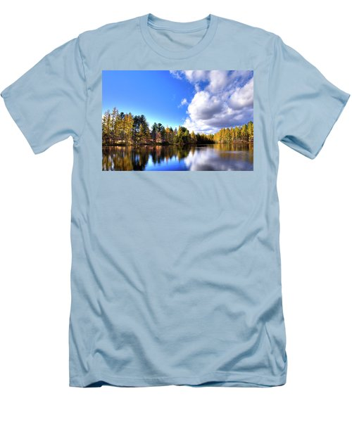Men's T-Shirt (Slim Fit) featuring the photograph Autumn Calm At Woodcraft Camp by David Patterson
