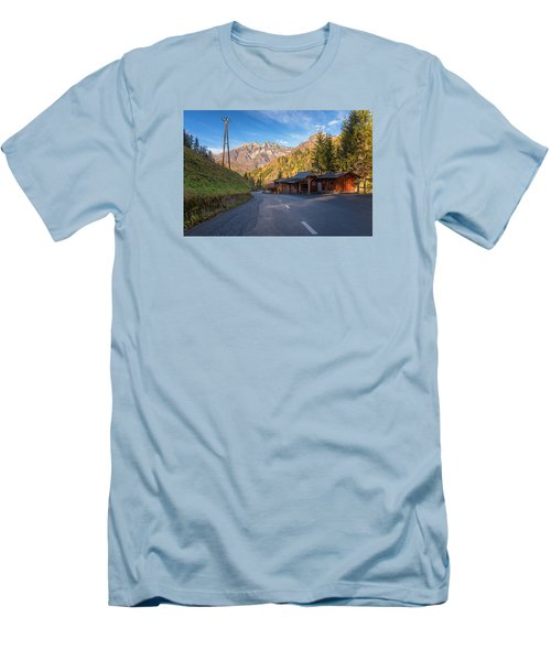 Autumn In Slovenia Men's T-Shirt (Athletic Fit)