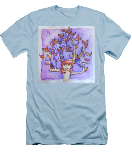 Autumn Moon Men's T-Shirt (Slim Fit) by Whitney Morton